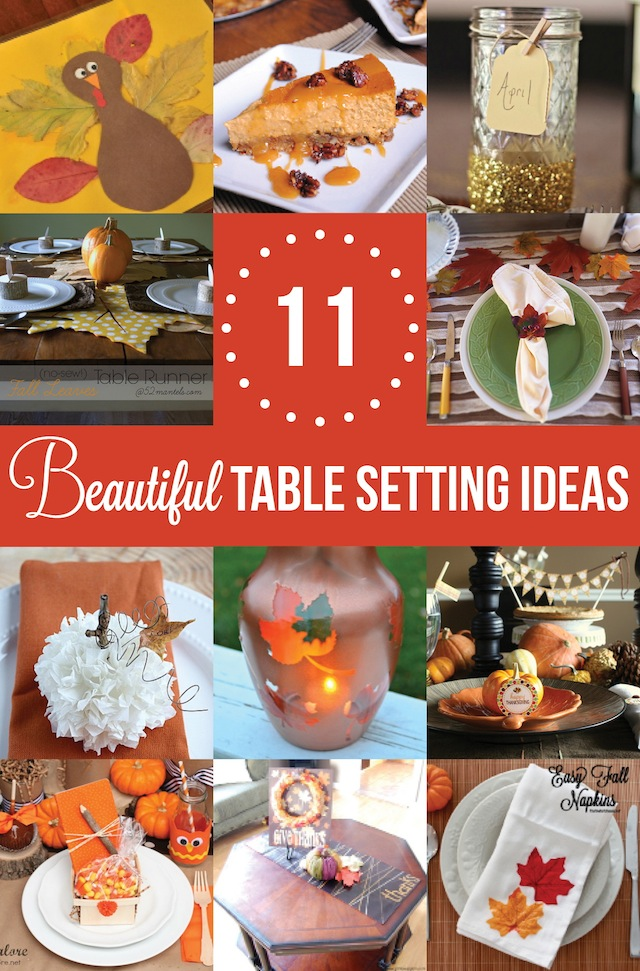 Table setting ideas for Table 52 thanksgiving