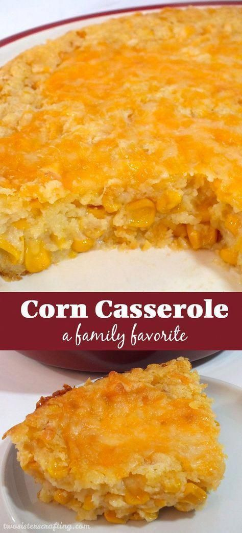 "Our Corn Casserole recipe is a family favorite Thanksgiving food side dish - this sweet-savory, corn bread ""like"" dish is super delicious and very easy to make. #christmasfood"