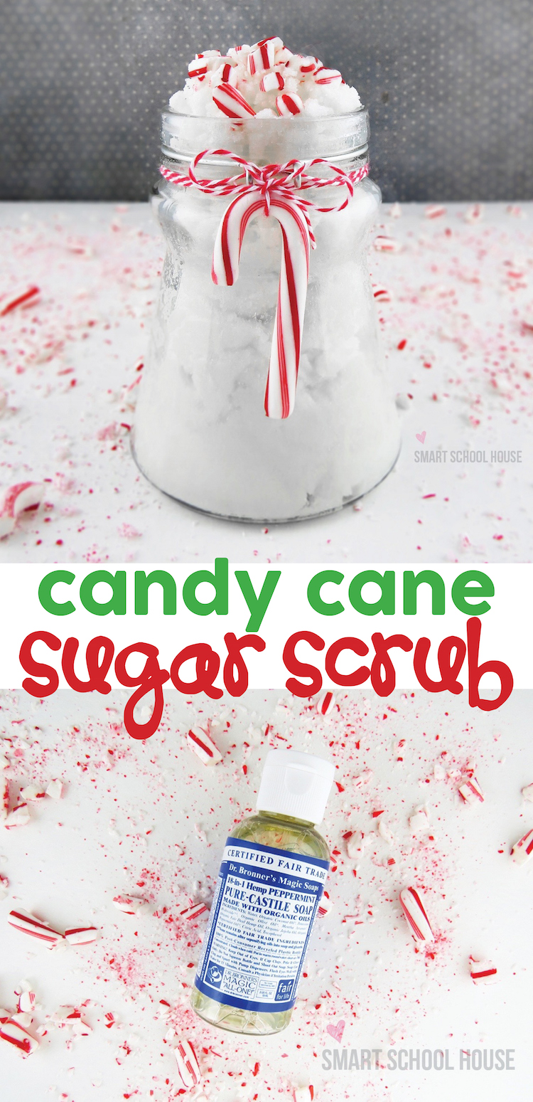 Candy cane sugar scrub!! OMG this smells SO GOOD!