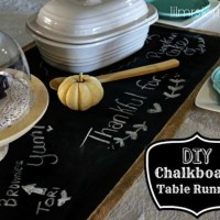 DIY Table Runner: Chalkboard Fabric