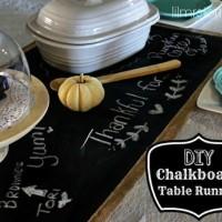 DIY Table Runner: Chalkboard Fabric