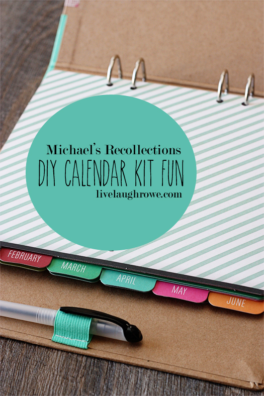 Great gift idea!! Michaels Recollection Calendar Kit Fun with livelaughrowe.com