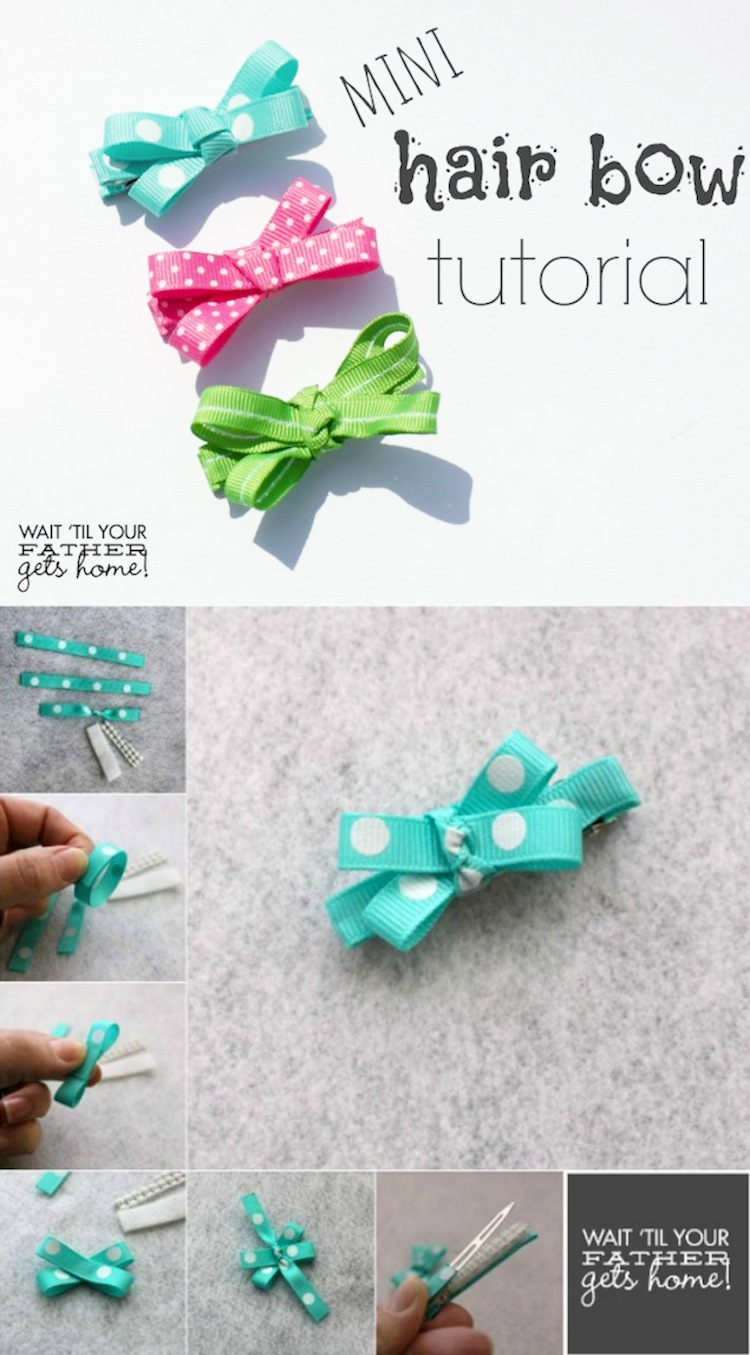 Cute and Easy Valentine Hair Bow Tutorial Bakerette