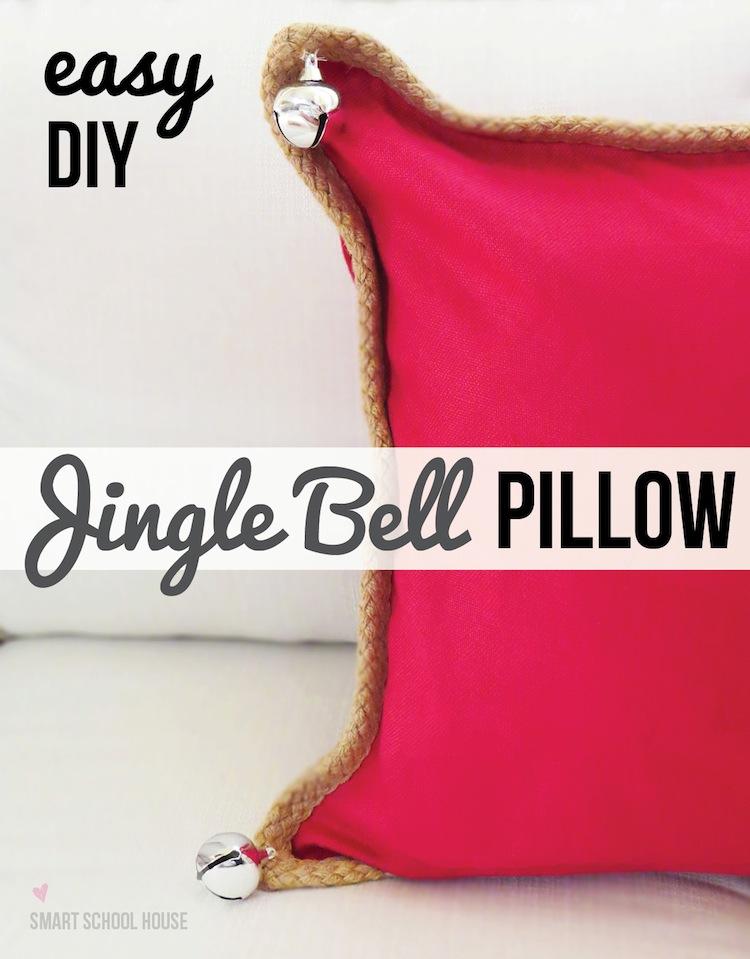 #DIY Jingle Bell Pillow (Pottery Barn hack)