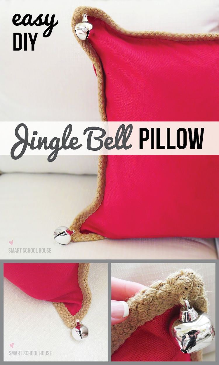 #DIY Jingle Bell Pillow (Pottery Barn hack)