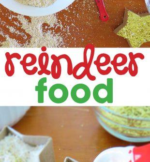 Reindeer Food. A step by step tutorial of how kids can make reindeer food for Santa and his reindeer this Christmas.