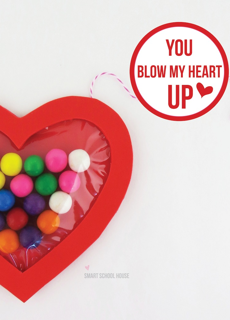 Blow My Heart Up - Bubble Gum Valentine Craft