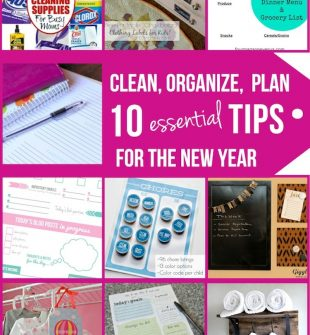 Clean, Organize, Save (New Year)
