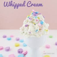Conversation Heart Whipped Cream