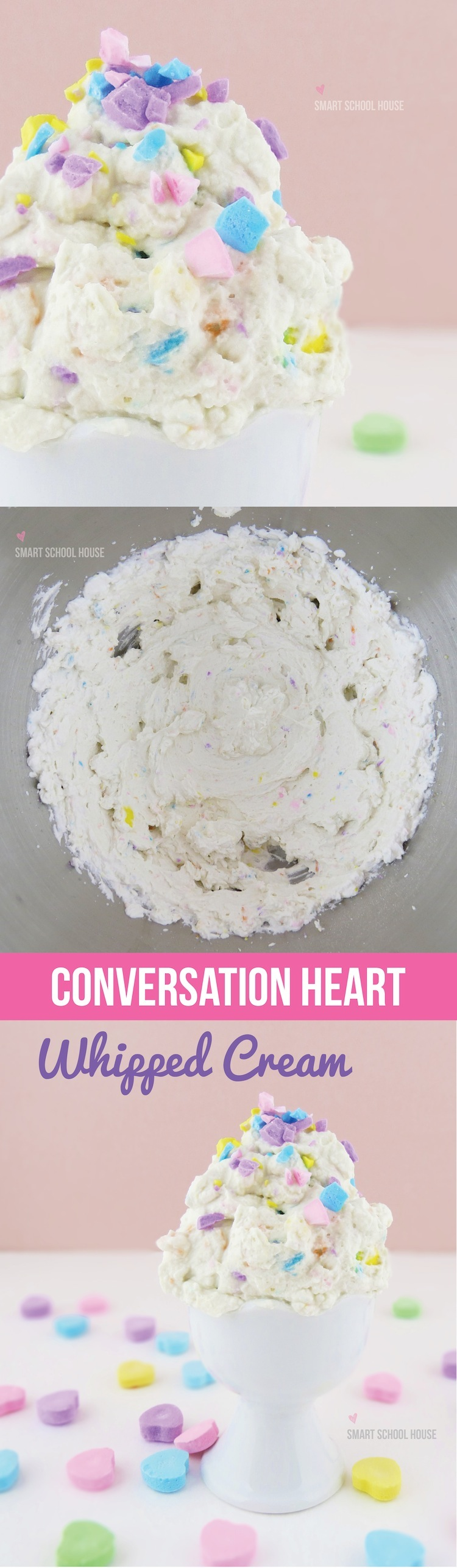 How to Make Conversation Heart Whipped Cream