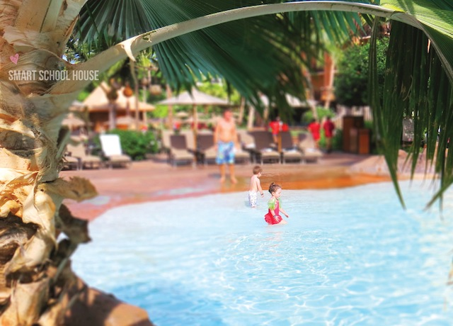 The pools at Disney's Aulani Resort in Hawaii