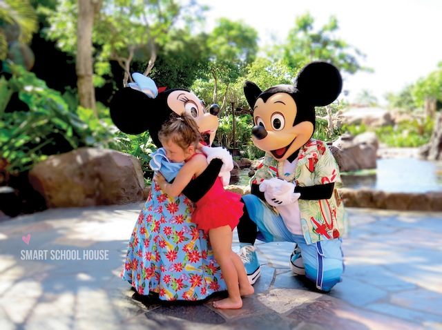 Dining with the characters at Disney's Aulani Resort in Hawaii