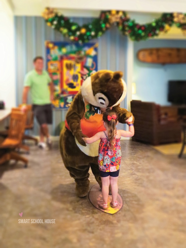 Surfing with Chip and Dale at Disney's Aulani Resort in Hawaii