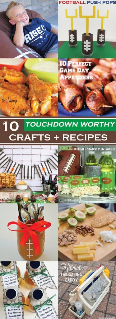 10 Touchdown Worthy Crafts and Recipes