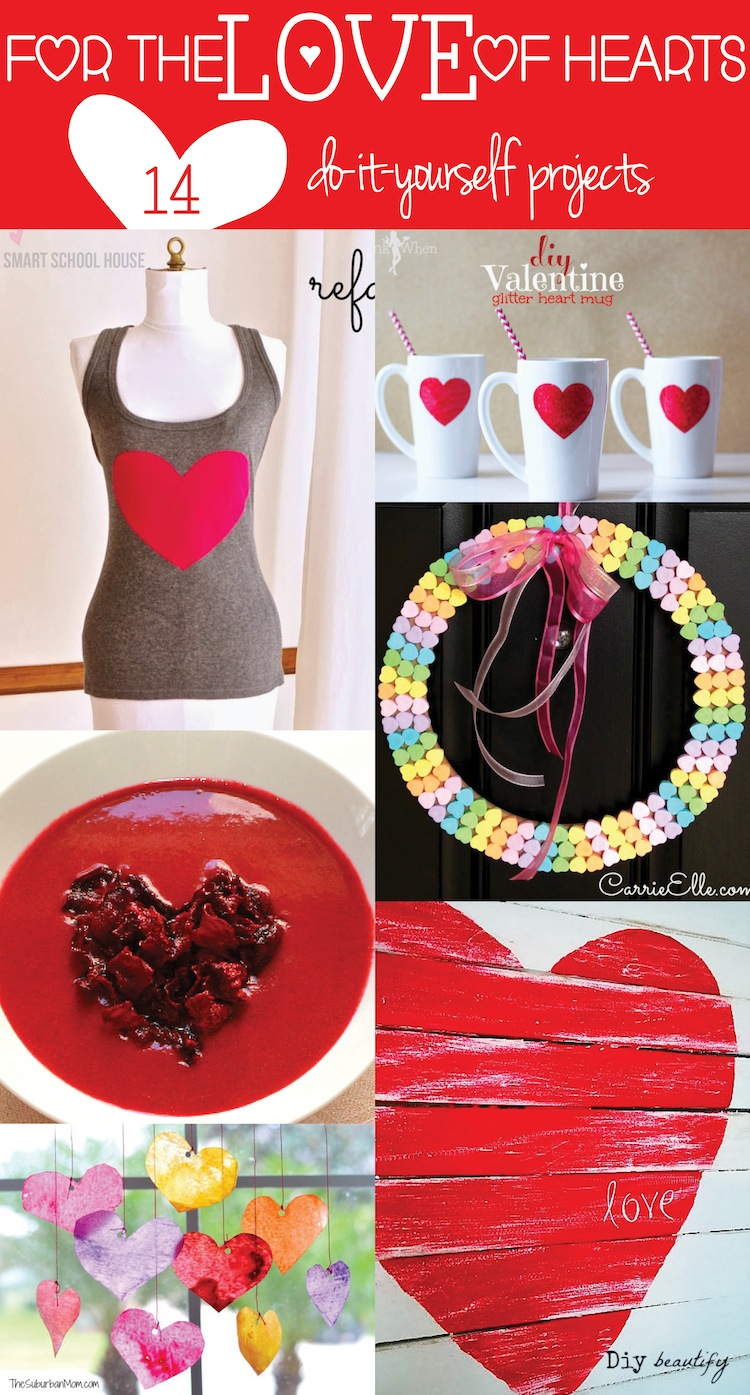 For the Love of Valentine Hearts! 14 must see #DIY Valentine Heart ideas