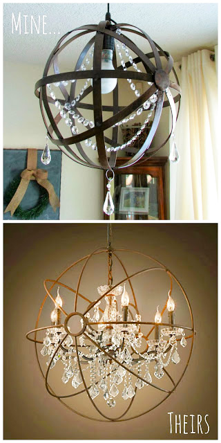 DIY Crystal Orb Chandelier