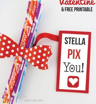 Pixy Stix Valentine - a Valentines Day Idea