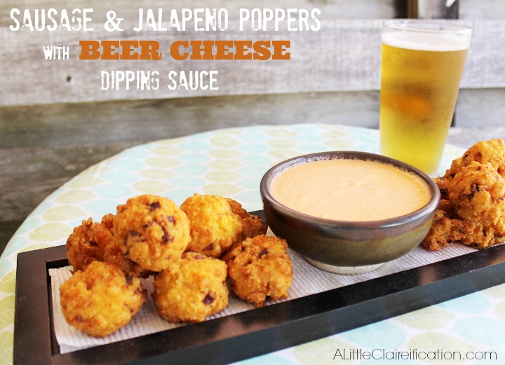 Sausage & Jalapeño Poppers with Beer Cheese Dipping Sauce
