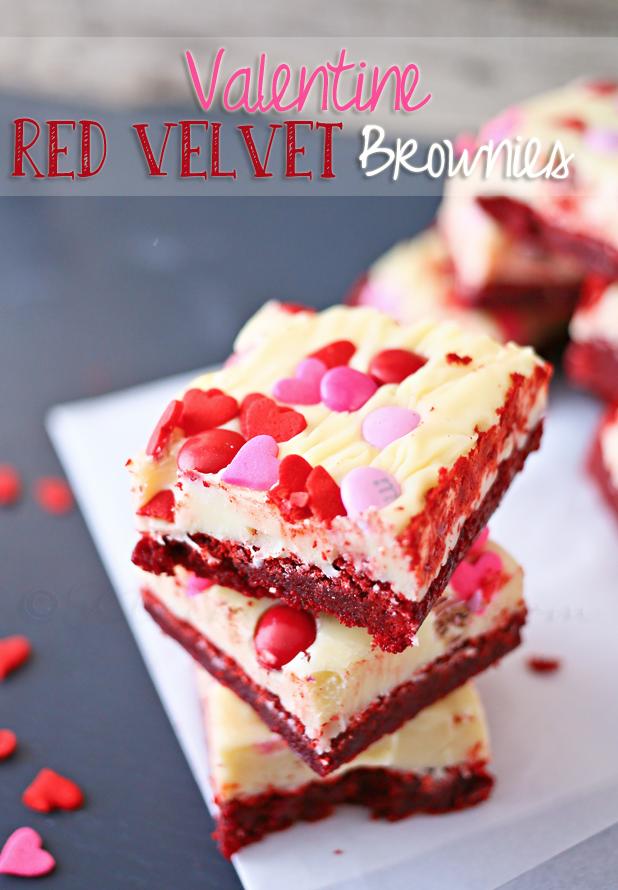 Red Velvet Valentine Brownies