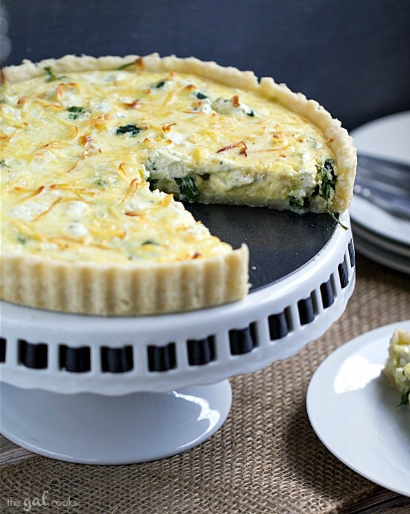 Spinach, Leek, and Goat Cheese Tart