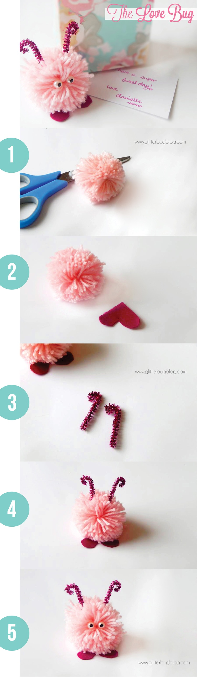 Valentine love bug craft - How To Make A Love Bug For Valentine S Day