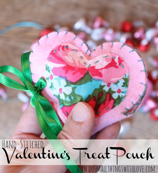 These gorgeous DIY Hand-stiched Valentine Pouches by Do Small Things with Love are a perfect homemade gift