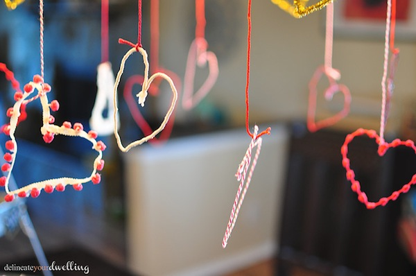 Valentine's String Garland by Delineate Your Dwelling