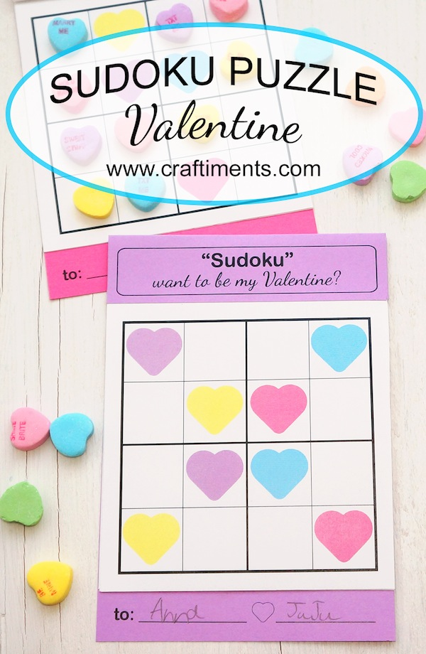 Sudoku Love Puzzle by Craftiments