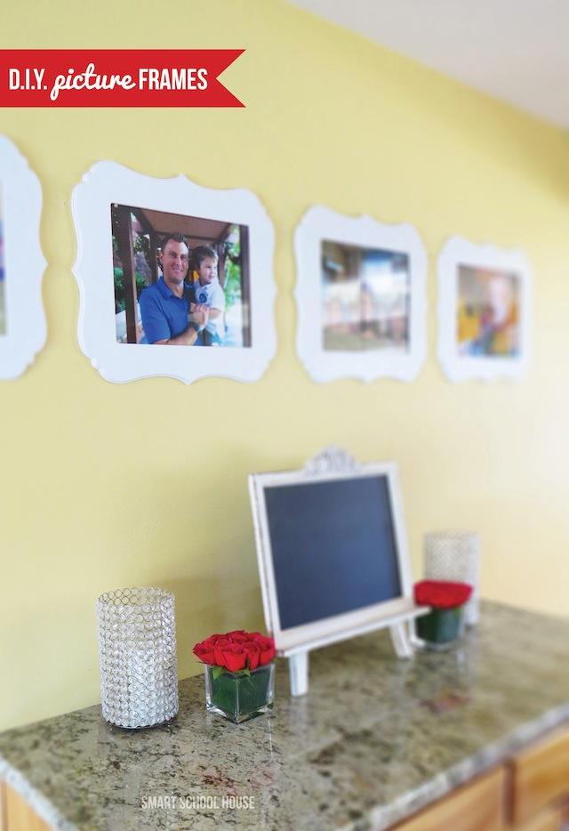 Picture Frame Ideas. #DIY picture frames. Just what I was looking for! LOVE