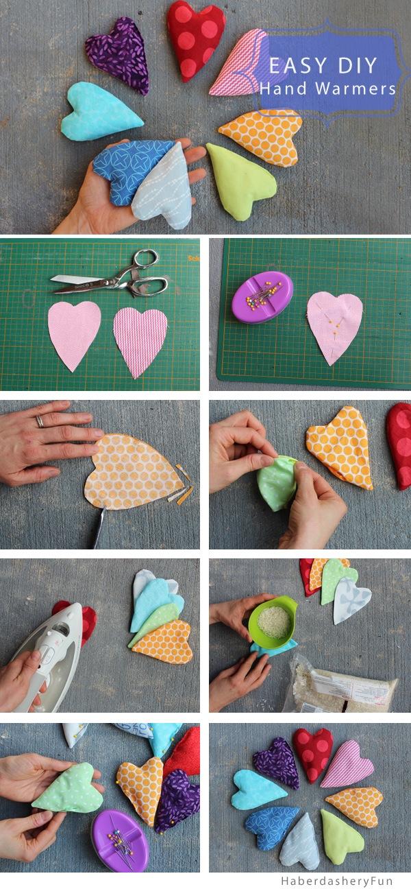 DIY Love Hand Warmers by Haberdashery Fun