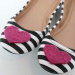DIY Felt Heart Shoes