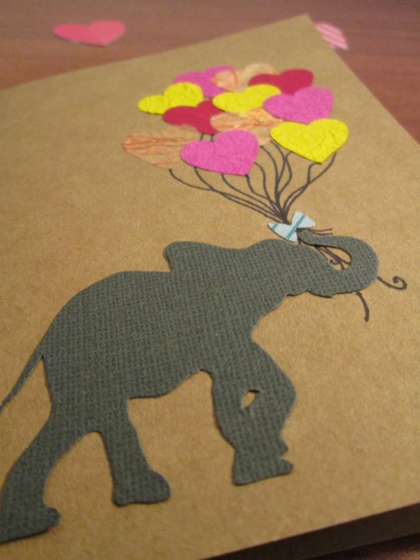 DIY Valentine's Day Elephant Card by Confessions of a Secret Crafter