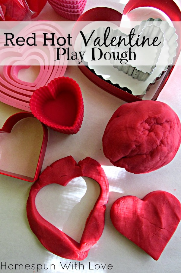 Red Hot Play Dough Recipe by Homespun with Love