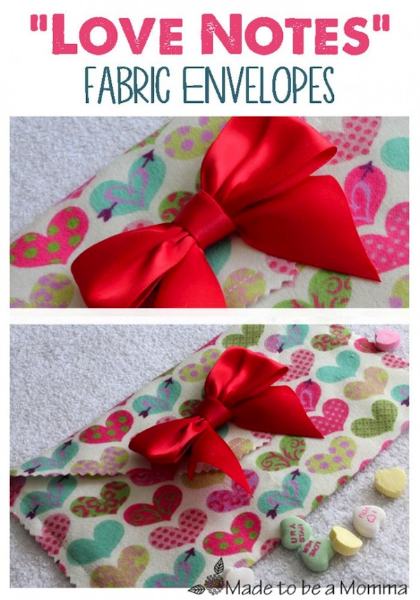 Love Notes Fabric Envelopes by Made to be a Momma