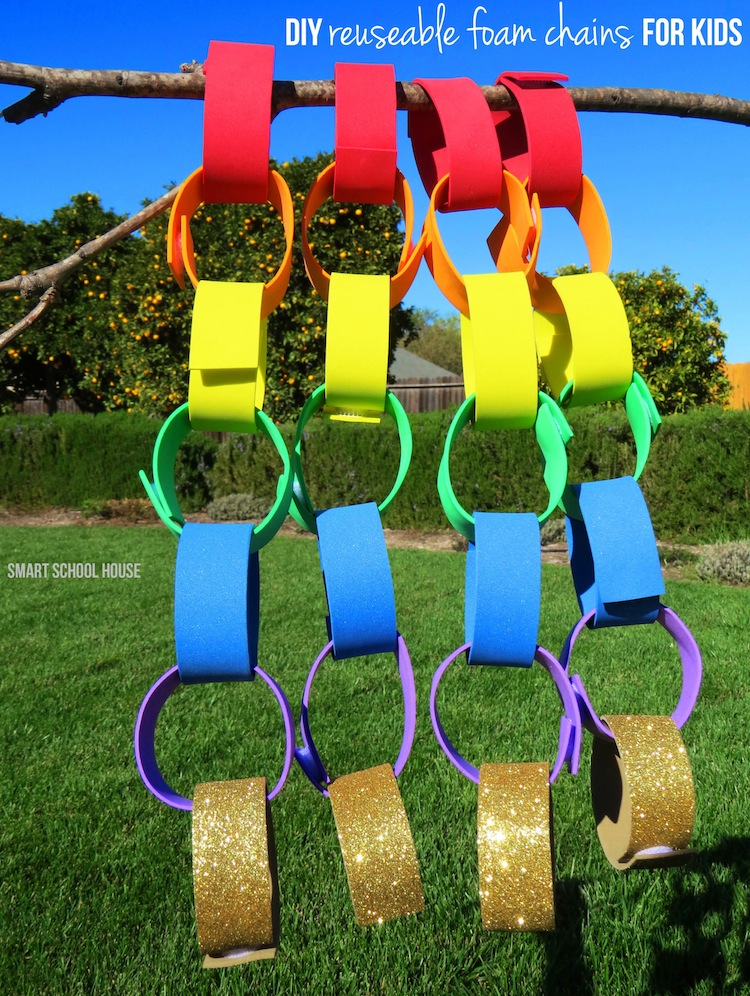 DIY Reusable Foam Chains! Such a smart and fun update to the old paper chains!