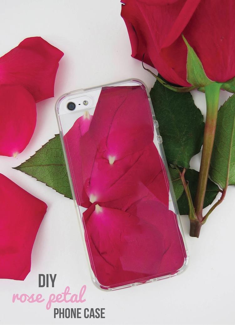 rose petal phone case