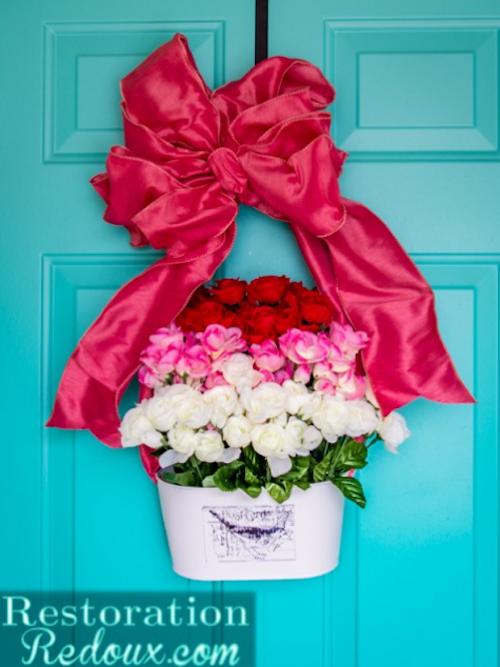 Tiered Flowered Wreath