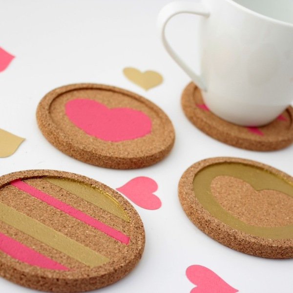 Easy DIY Love Coasters by View from the Fridge