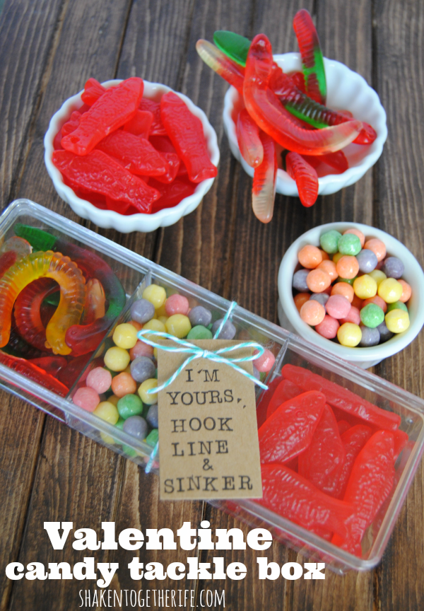 Valentine Candy Tackle Box (perfect for guys!) by Shaken Together Life