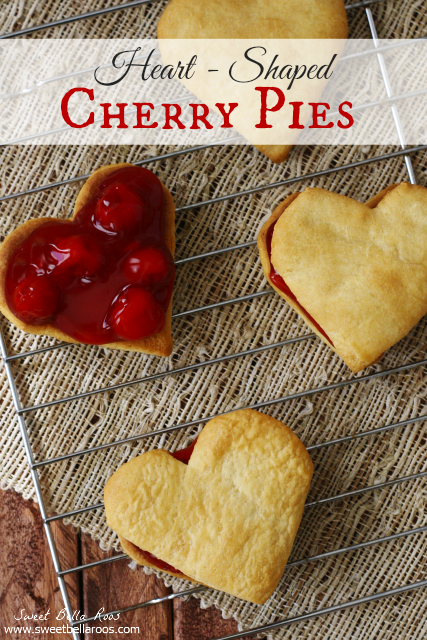 Heart Shaped Cherry Pies by Sweet Bella Roos