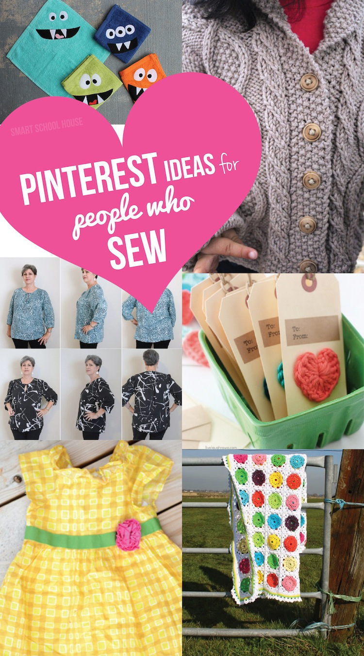 Pinterest sewing smart school house for Craft patterns to sew