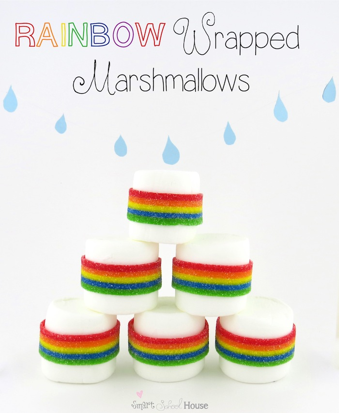 Rainbow Wrapped Marshmallows