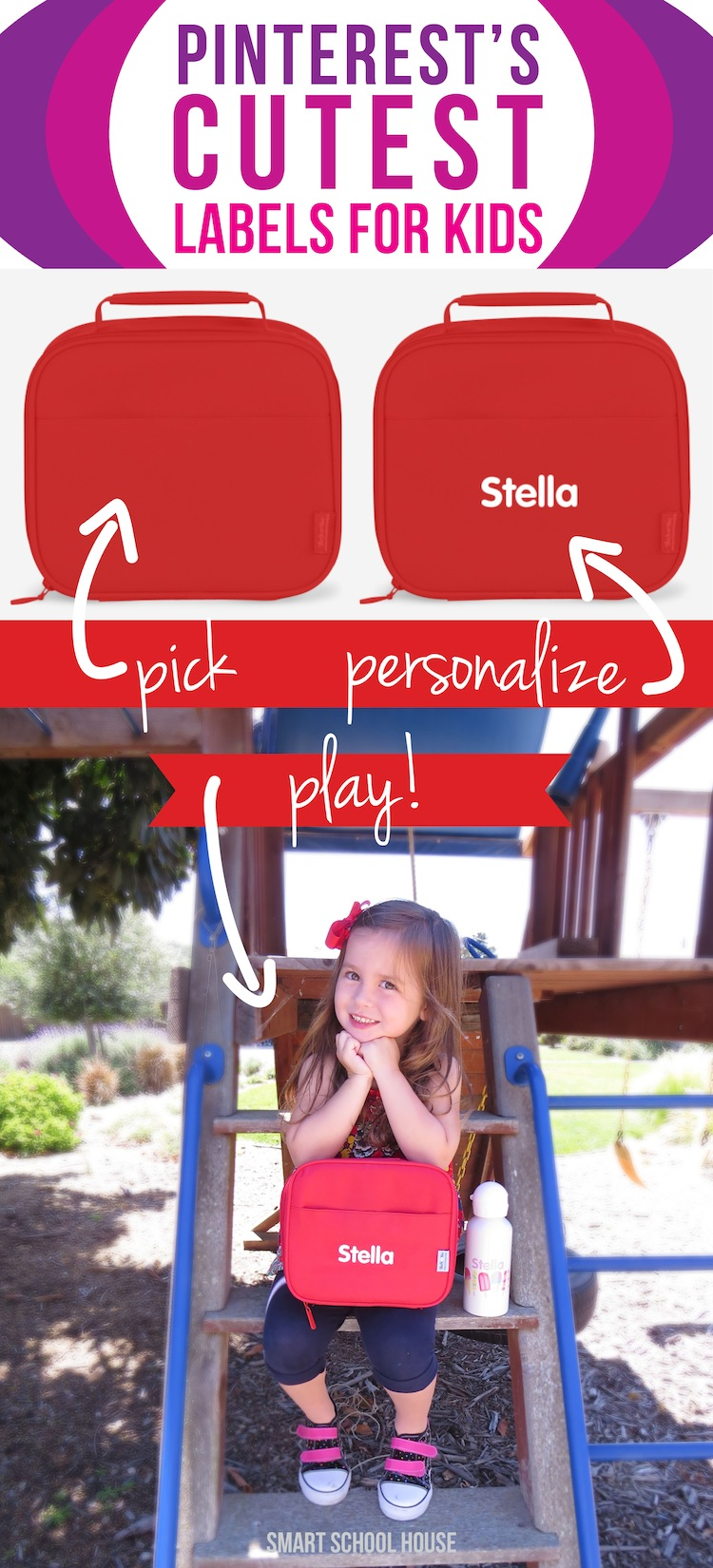 A great solution for busy families. Pick, personalized, & play! These are Pinteret's CUTEST labels for kids