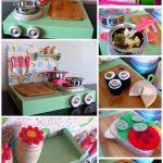 DIY Play Kitchen with Felt Food