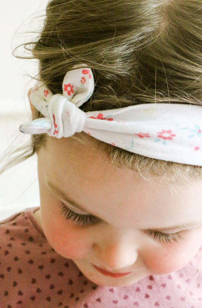 DIY Knot Bow Headband by Maddie Moes