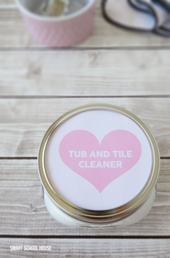 A homemade cleaner that has a vanilla scent plus a free label