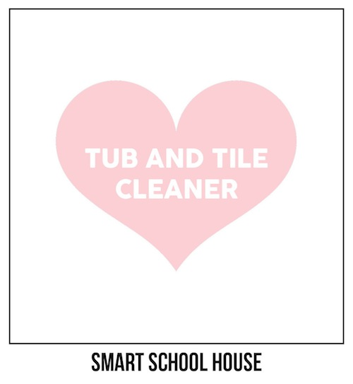 Tub and Tile Cleaner label
