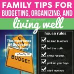 Family Tips for Budgeting, Organizing, and Living Well