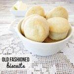 Old Fashioned Biscuits recipe. 5 simple ingredients.