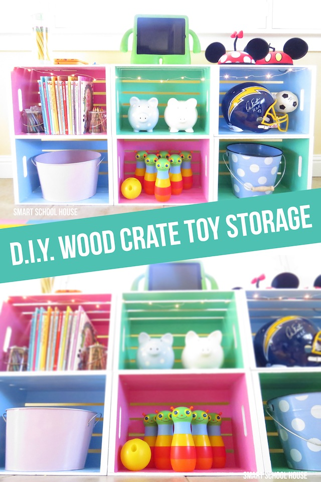 Wood Crate Toy Storage  sc 1 st  Smart School House & Playroom Decorating Ideas